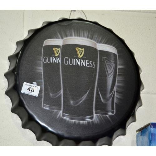 48 - Guinness Bottle Cap Wall Art...