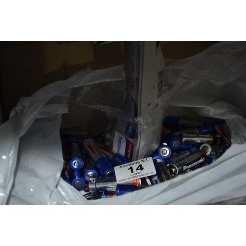 14 - Large Bag of Batteries...