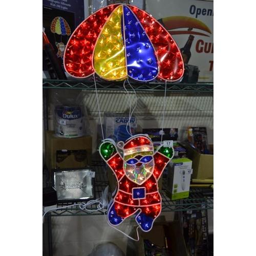 17 - Parachuting Santa Light - As Seen...