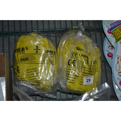 29 - 2x Pack of 12 Pair Rubber Gloves...