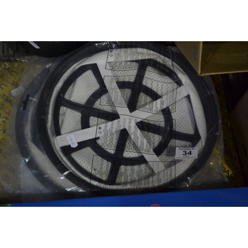 34 - Replacement Hoover Filter x2...