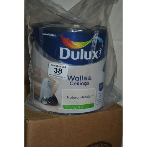 38 - Deluxe Natural Hessian Silk Paint 2.5L...