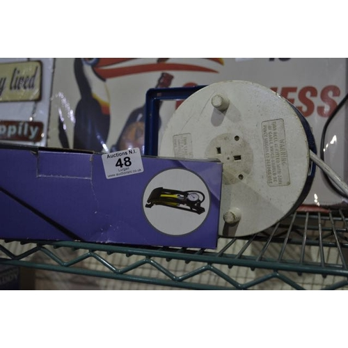 48 - Single Barrel Foot Pump + Extension...