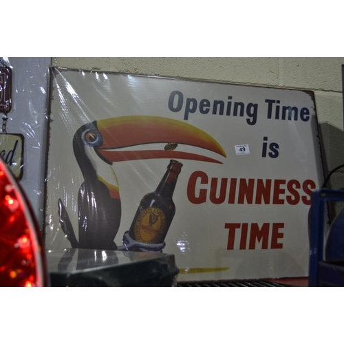 49 - Large New Metal Guinness Toucan Sign - 28x20