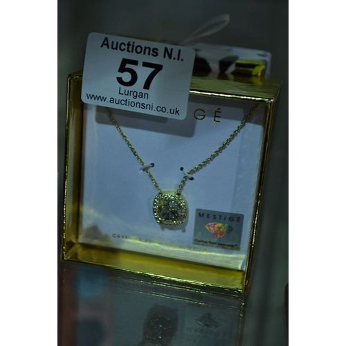 57 - Mestige Swarovski Crystal Necklace...