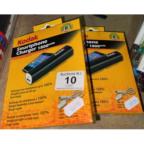10 - 2x Kodak Smartphone Charger
