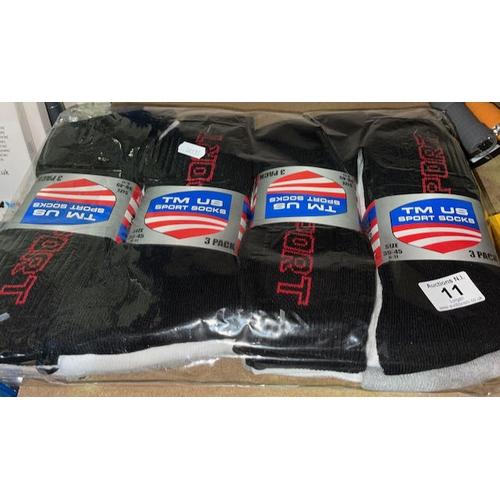 11 - 4x3pk Sports Socks