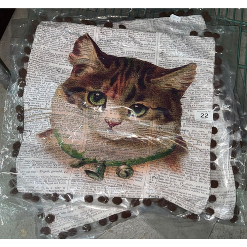 22 - 4x Cat Cushion Cover