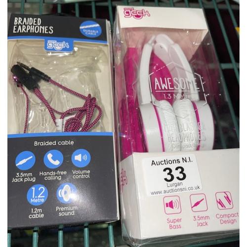 33 - Sound Geek Earphones + Headphones