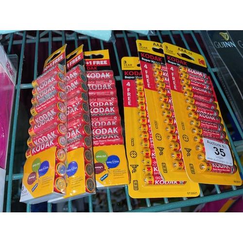 35 - 6x Pack of Kodak Batteries