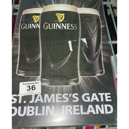 36 - Metal Guinness Sign