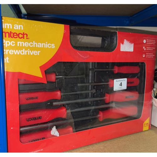 4 - Amtech 12pc Mechanics Screwdriver Set