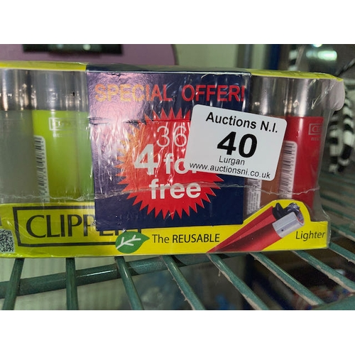 40 - Pack of Clipper Lighters