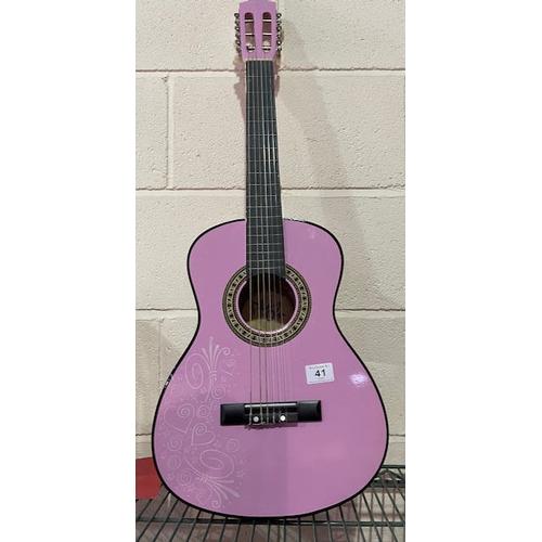41 - PlayOn Pink Acoustic Guitar