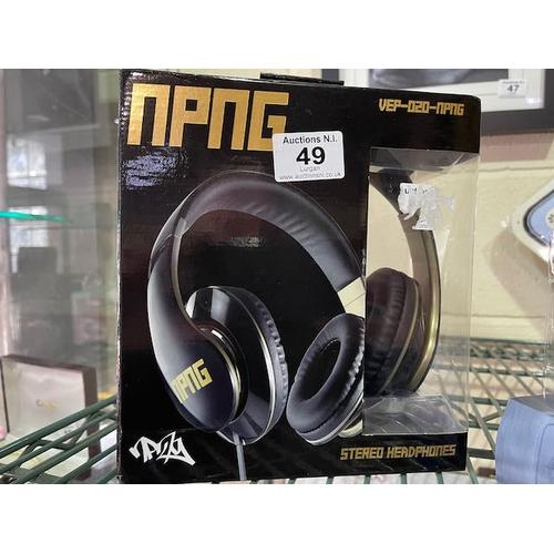 49 - NPNG Stereo Headphones