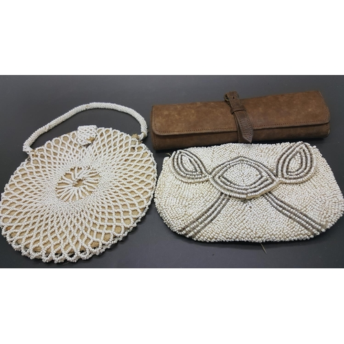12 - Two beadwork bags and a manicure set in wallet (4)...