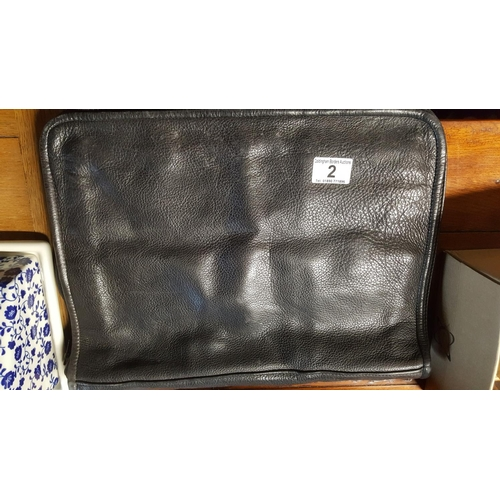 2 - A soft leather German-made document case...
