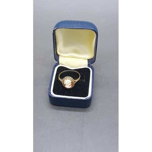 20 - A Wedgwood gold cameo ring, boxed...