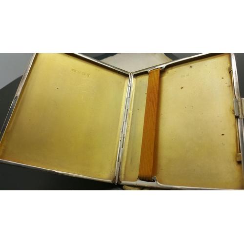40 - A silver cigarette box marked Turner & Simpson 1960...