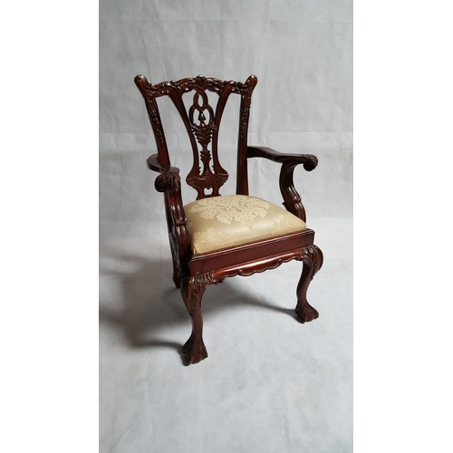 5 - A well carved Chippendale-style chair made for a child....