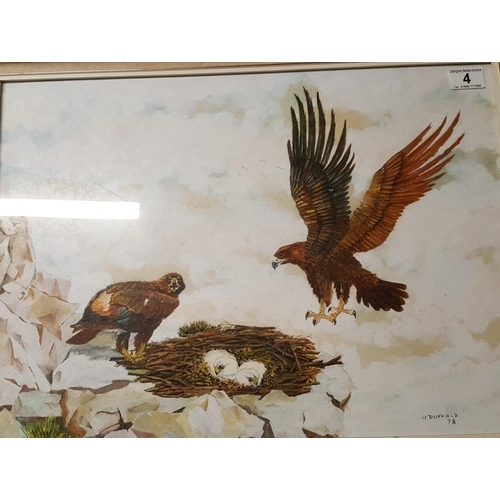 4 - Painting of a pair of ospreys...
