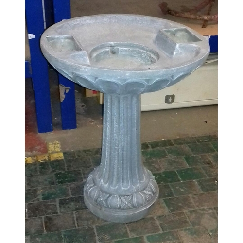 364 - 59 cm tall hard plastic bird bath...