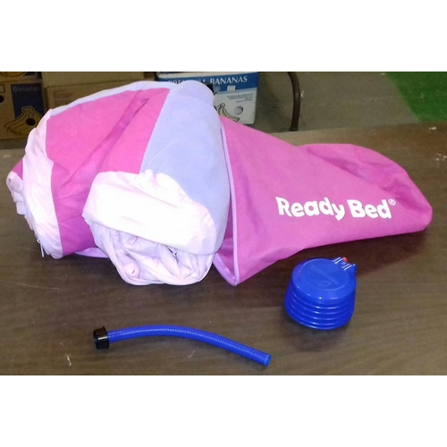 163 - Inflatable ready bed with pump in carrying bag...
