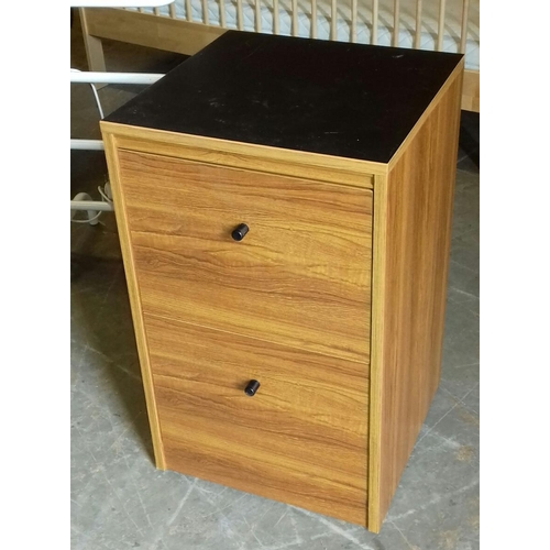 502 - 2 drawer filing cabinet with assorted office related contents...