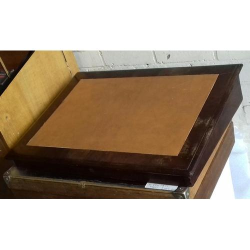506 - 64 x 46 cm vintage writing slope...