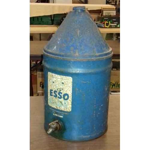 173 - Large Esso blue paraffin can with tap...