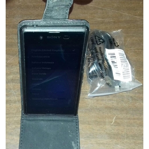 541 - Sony Xperia touchscreen smartphone, open to all networks...