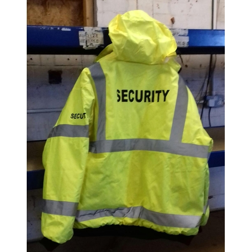 213 - Hi-Viz security jacket size large...