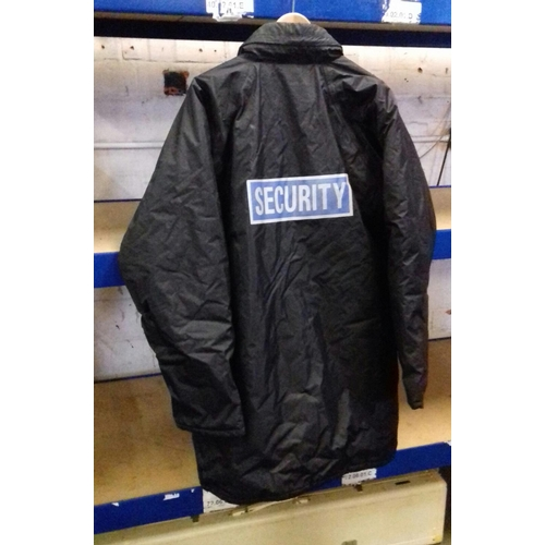 211 - Black fortress by castle security jacket size large...
