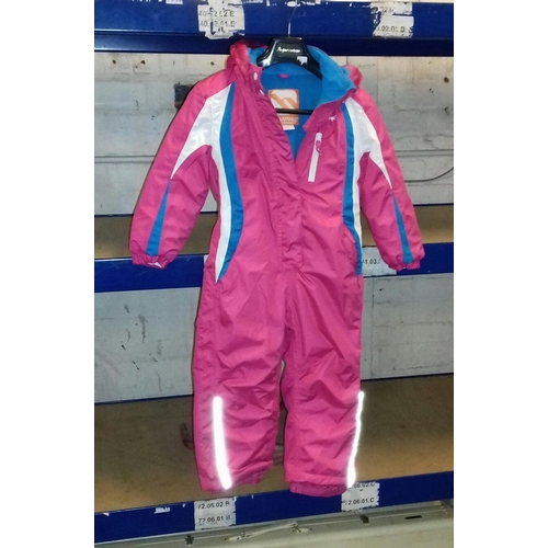 209 - Unworn girls pink Campri ski suit age 5 to 6 years...