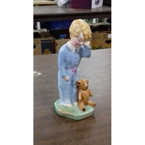 25 - 15 cm tall vintage Artone ornament titled sleepyhead...