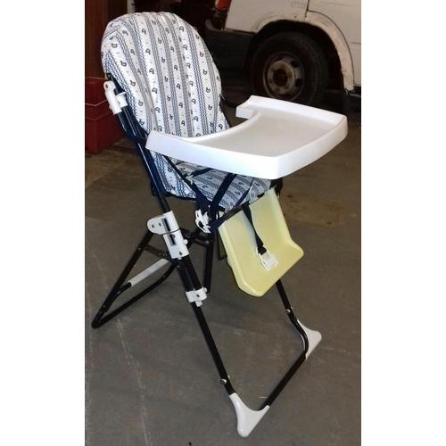 498 - Tubular metal framed folding high chair...
