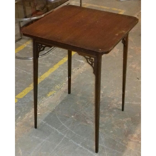 514 - 51 x 51 x 71 cm inlaid Edwardian side table...
