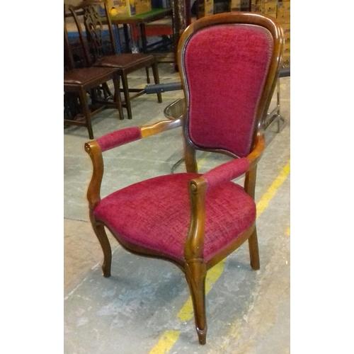 505 - Victorian wooden armchair...