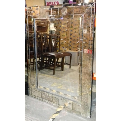 460 - 121 x 89 and 122 x 61 cm frameless wall mirrors...