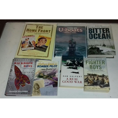 104 - Small bundle of War related books, fiction and non-fiction...