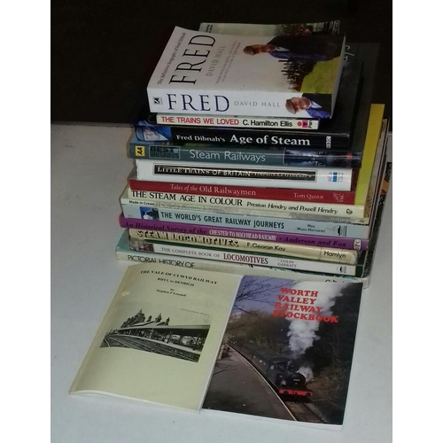 131 - Bundle of steam train related non-fiction books...
