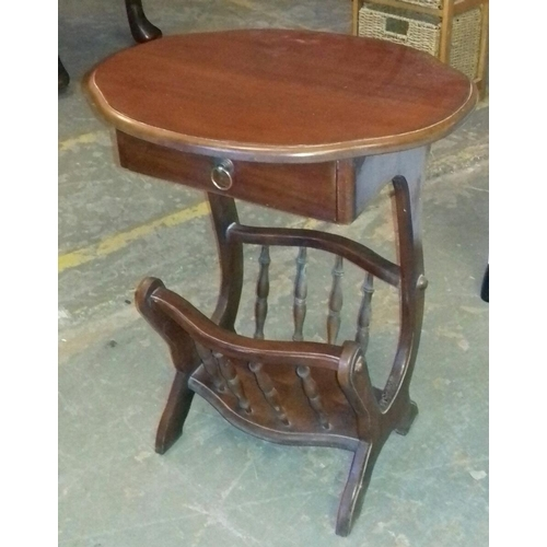 527 - 60 cm tall Kingswood collection magazine table with drawer...