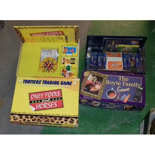 263 - 2 x retro Board Games being Only Fools and Horses and the Royle Family...