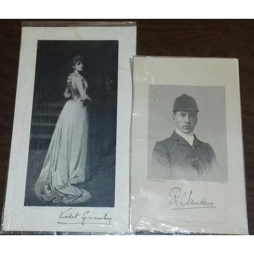 73 - Bundle of 4 x vintage etchings one being 1882 Violet Granby (signed) and one being 1883 lady Lucy Be...