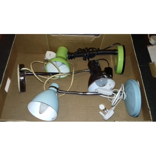 494 - Bundle of 3 x desk lamps all working with bulbs...