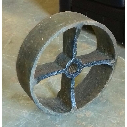 205 - 50 cm diameter and 16 cm thick large cast wheel...