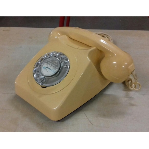 201 - Vintage cream BT telephone...