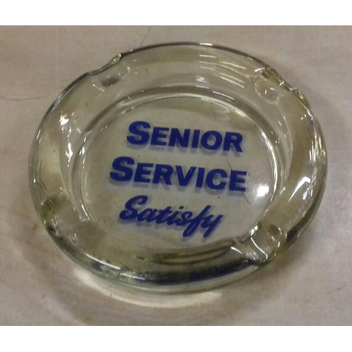 257 - 20 cm diameter glass senior service ashtray...