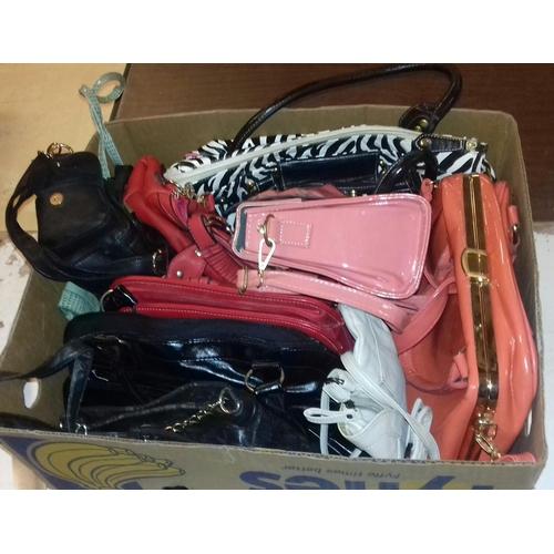 149 - Box of assorted ladies handbags...