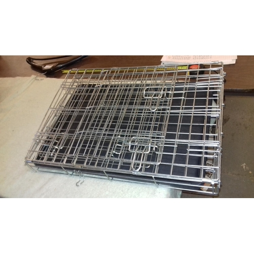 336 - 61 x 44 x 50 cm small collapsible metal dog cage with tray...